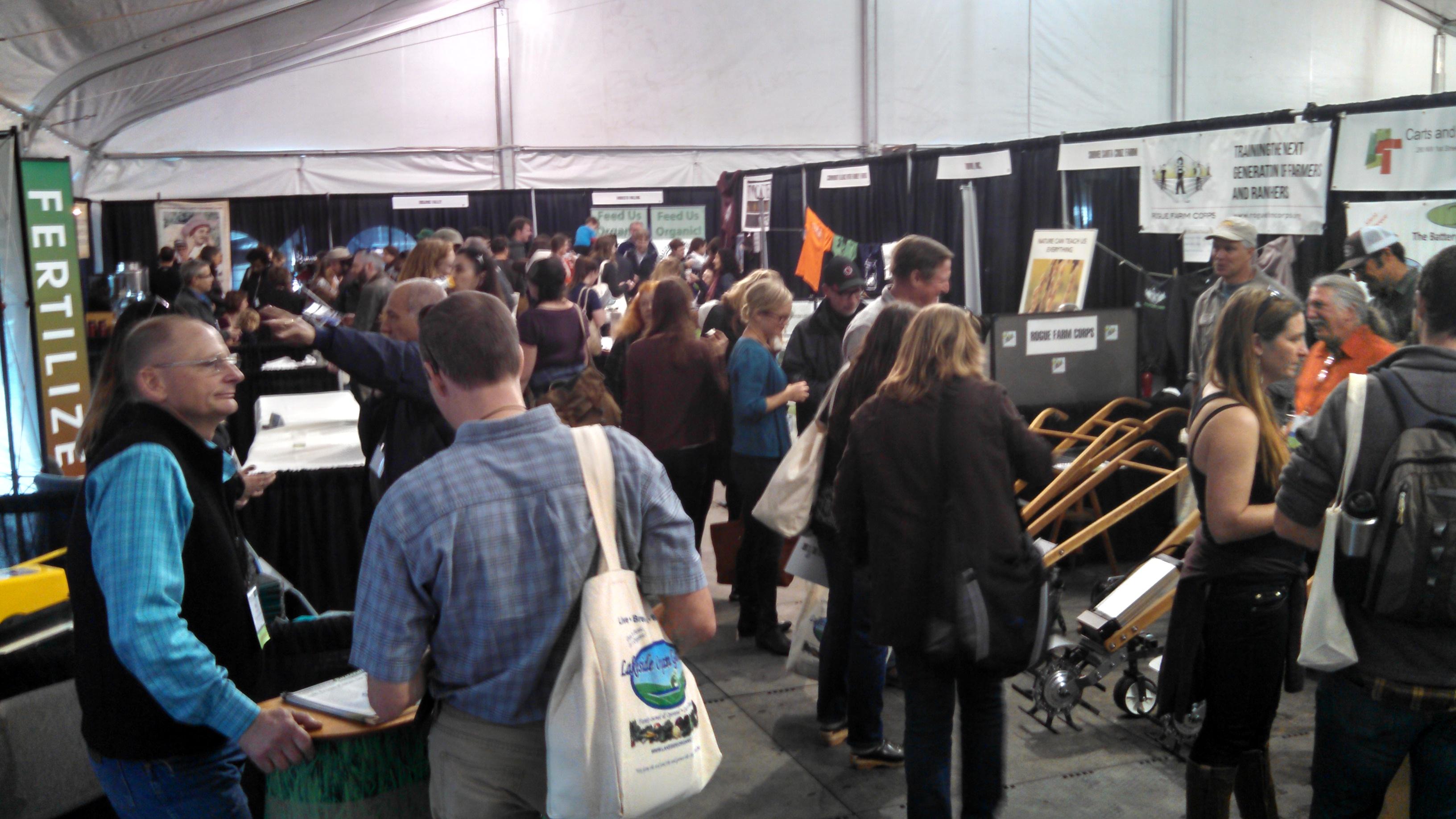 Ecofarm trade show floor